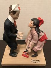 """Norman Rockwell """"First Dance"""" Hand Crafted Porcelain Figurine The Danbury Mint"""