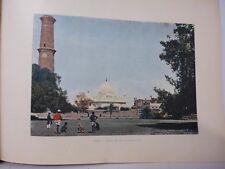 Inde : Gravure 19° in folio couleur / Lahore: Tombeau de R. Mosquée d'Aureng Zeb