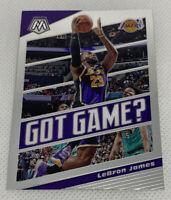 2019-20 Panini Mosaic LEBRON JAMES GOT GAME? #7 BASE Mosaic Prizm LA Lakers