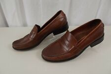 Cole Haan Mens Leather Penny Loafers Dress Shoes 9.5 M Loafers Slip On Brown