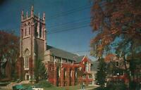 VINTAGE FIRST METHODIST CHURCH ONEONTA NY City of the Hills POSTCARD