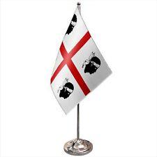 More details for italy sardinia satin & chrome premium table flag