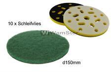 10 X Disque Abrasif Vitre P240 150mm Vert Grossier Incl. Disque-Support Jaune
