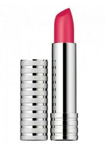 Clinique MATTE PEONY 47 Long Last Soft Lipstick Rare Silver Case FAST POSTAGE