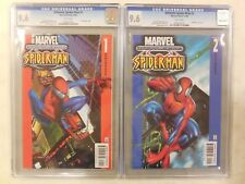 2x CGC 9.6 ~ ULTIMATE SPIDER-MAN # 1 & 2 ~ 2000 ~ 1st ULTIMATE ~ NM+ /2005/2016