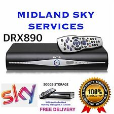 SKY+ HD BOX 500gb SLIM LINE RECIEVER/RECORDER WITH REMOTE AND POWER CABLE