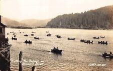 Real Photo Postcard Trolling for Salmon on Klamath River, Oregon~130597