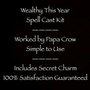 Wealthy This Year Become Rich Secret Method Voodoo Spell Prayer Kit Charm Money