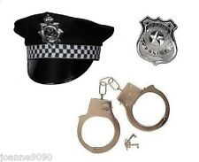 MENS POLICEMAN ACCESSORY SET 1 FANCY DRESS COSTUME POLICE CONSTABLE COPPER HAT