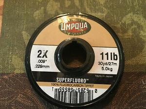 Umpqua 100% Superfluoro Fluorocarbon Tippet 2X 11 pound