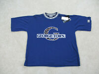 NEW VINTAGE Georgetown Hoyas Shirt Adult Large Blue Gray Basketball Mens 90s A1