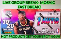 🔥2019-20 Panini Mosaic Fast Break Box! **Random Team Break!** HOT!!🔥 Zion&JA!