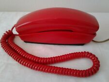Vintage GTE Tomato Red Telephone Touch Tone Push Button Trimline Phone