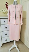 Jones New York Womens 2-Piece Skirt & Blazer Suit Pale Pink Sz.8 Petite