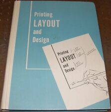 Printing Layout Design Type Mounting Proofs Lettering Spacing Harmony 1968 NICE!