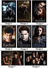 Personalised Twilight Magnet - w/ Name or Msg - Gift Idea - Edward, Jacob, Bella