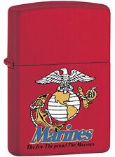 "Zippo Red ""USMC Globe & Anchor"" U.S. Marine Lighter - Limited Production Item"