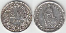 Gertbrolen Suisse 2 Francs argent 1946   Swiss  Confédération Hélvétique