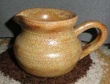 "HANDCRAFTED POTTERY SMALL PITCHER SIGNED EM ""80"" 3"" HIGH X 3.5"" WIDE*"