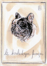 FRENCH BULLDOG DOG FINE ART PRINT - Le Bouledogue Francais - Frenchi