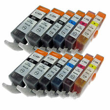 12 Pack PGI-225 CLI-226 Ink Combo For Canon PIXMA MG5120 MG5220 MG5320 MG6120