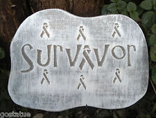 Cancer survior plaque mold plaster concrete casting mould