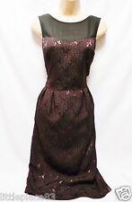 new NEXT BNWT ladies burgundy  jaquard wiggle panel ocassion knee Dress 10 tall