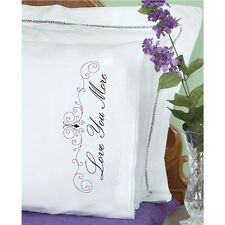 Jack Dempsey Stamped Pillowcases With White Lace Edge - 537846