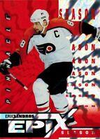 ~Pinnacle Epix 1997-98: Orange Season Card of Eric Lindros E13