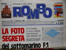 ROMBO n°5 1988 Nannini Benetton - Poster FIAT TIPO [SC.7B]