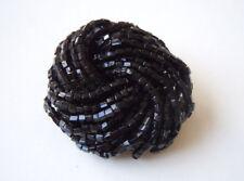 Modeschmuck Gablonz Brosche mit schwarzen Glas Steinchen 15,0 g/4,0 x 3,6 cm