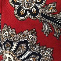 "Robert TALBOTT Men's Tie Red Floral Huge Paisley 100% Silk  3"" x 57"" Hand Sewn"