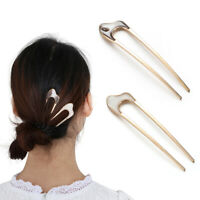 Accessories Vintage Metallic alloy U Shape Hair Clip Hairpin  Metal Hair Stick