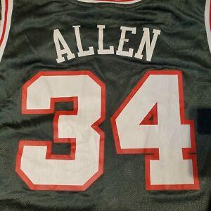 Ray Allen Milwaukee Bucks #34 Jersey XXL Hardwood Classics Vintage Reebok EUC