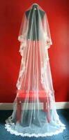 One Tier Ivory Cathedral Chapel Wedding Bridal Veil 3M FREE P&P