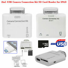 2 in 1 USB Camera Connection KIT Adapter SD Card Reader For iPad iPad 2 Touch
