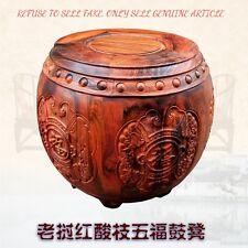 Red rosewood Guzheng Guqin Garden stool Drum Round stool Change shoes stool#3090