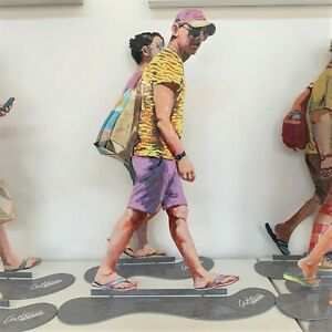 Walking in Tel Aviv Creation By David Gerstein Art- Walker With Baseball Cap