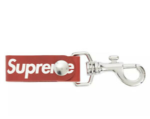 SUPREME LEATHER KEY LOOP (2021) SS21 RED Color Brand New & Authentic *In Hand*