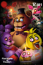 Five Nights at Freddys Group Gaming Maxi Poster Print 61x91.5cm | 24x36 inches