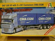 Maquette Camion 1/24 ITALERI DAF XF105 with 2x20 Containers CMA-CGM Ref 3861