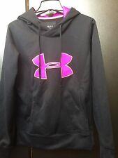 Women's Black Long Sleeved Medium Underarmour Hoodie/Sweatshirt