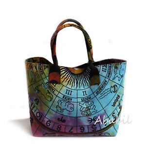 Hippie Astrology Mandala Cotton Beach Purse Hobo Bag Women Shopping Bags Throw