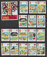 MATCHBOX LABELS-HOLLAND. International tourism, set of 33 + packet label,1965