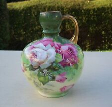 Pretty Antique/Victorian Limoges Signed Hand Painted Jug - A Lanternier - Roses