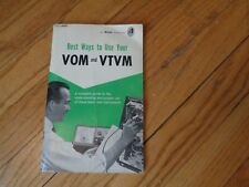 Allied Publication Best Ways to Use Your VOM and VTM Vintage Electronics Book