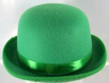 Cappello dorato Bowler Glitter Plastica Laurel Hardy Vittoriano