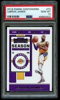 2019-20 Panini Contenders Lebron James LA Lakers #70 PSA 10 Gem Mint