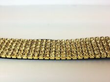 CHEAP GOLD CRYSTAL Headband, Hairbands with Diamonds, Elasticated to adjust