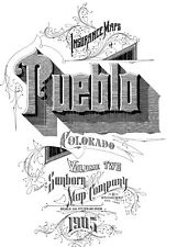 Pueblo, Colorado~Sanborn Map©sheets~Vol 1, 2 from microfilm reel~1905~269 maps